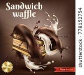 vector realistic sweet crispy...   Shutterstock .eps vector #778152754