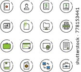 line vector icon set   passport ... | Shutterstock .eps vector #778153441