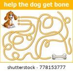 help the dog get bone | Shutterstock .eps vector #778153777