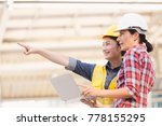 engineers two woman working on... | Shutterstock . vector #778155295