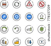 line vector icon set   sign... | Shutterstock .eps vector #778157209