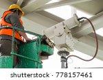 a male technician doing... | Shutterstock . vector #778157461