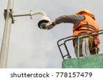 a male technician doing... | Shutterstock . vector #778157479