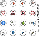 line vector icon set   elevator ... | Shutterstock .eps vector #778157581