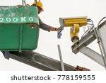 a male technician doing... | Shutterstock . vector #778159555