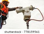 a male technician doing... | Shutterstock . vector #778159561