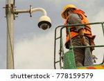 a male technician doing... | Shutterstock . vector #778159579