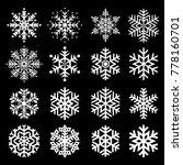 set of snowflake winter...   Shutterstock .eps vector #778160701