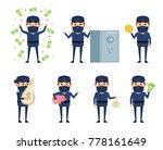 set of ninja characters posing... | Shutterstock .eps vector #778161649