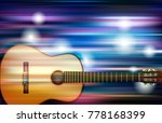 abstract blue white music... | Shutterstock .eps vector #778168399