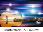 abstract blue white music... | Shutterstock .eps vector #778168399