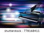 abstract blue white music...   Shutterstock .eps vector #778168411