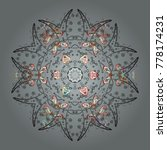round vector snowflake. fine... | Shutterstock .eps vector #778174231