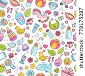 seamless background  texture ... | Shutterstock .eps vector #778175287
