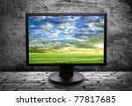 Monitor With Thea Picture Of Of ...