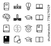 knowledge icons. set of 16... | Shutterstock .eps vector #778179529
