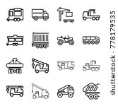 trailer icons. set of 16... | Shutterstock .eps vector #778179535