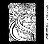 tribal woman. beautiful shaman... | Shutterstock .eps vector #778179631