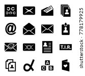 letter icons. set of 16... | Shutterstock .eps vector #778179925
