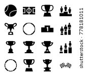 championship icons. set of 16... | Shutterstock .eps vector #778181011