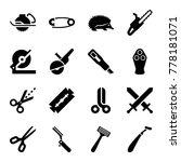 sharp icons. set of 16 editable ... | Shutterstock .eps vector #778181071