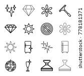 shine icons. set of 16 editable ... | Shutterstock .eps vector #778181371