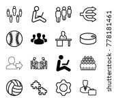 team icons. set of 16 editable... | Shutterstock .eps vector #778181461