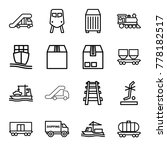 freight icons. set of 16... | Shutterstock .eps vector #778182517