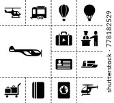 journey icons. set of 13... | Shutterstock .eps vector #778182529