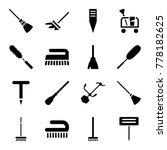 broom icons. set of 16 editable ... | Shutterstock .eps vector #778182625