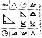 geometry icons. set of 13... | Shutterstock .eps vector #778182685