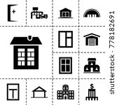 exterior icons. set of 13...   Shutterstock .eps vector #778182691