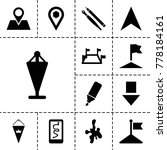 marker icons. set of 13...