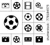 cinematography icons. set of 13 ... | Shutterstock .eps vector #778184575