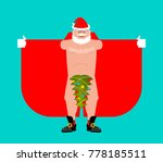 santa claus exhibitionist and... | Shutterstock .eps vector #778185511