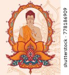 buddha in meditation in...   Shutterstock .eps vector #778186909