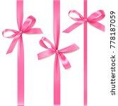 vector set of decorative pink... | Shutterstock .eps vector #778187059