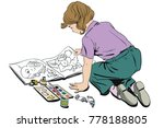 stock illustration. people in... | Shutterstock .eps vector #778188805