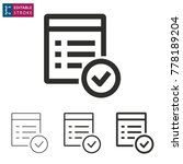 checklist   outline icon on... | Shutterstock .eps vector #778189204