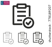 checklist   outline icon on... | Shutterstock .eps vector #778189207