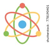 a flat style icon of atom... | Shutterstock .eps vector #778190401