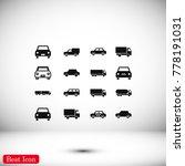 transport icon  stock vector... | Shutterstock .eps vector #778191031
