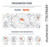 line illustration of freshwater ...   Shutterstock .eps vector #778198684