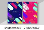 minimal cover design annual... | Shutterstock .eps vector #778205869