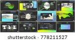 clean  minimal presentation...   Shutterstock .eps vector #778211527