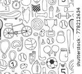 vector hand drawn doodle... | Shutterstock .eps vector #778212634