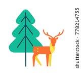 deer animal icon  horned...   Shutterstock .eps vector #778214755