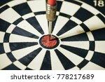 dart arrow hitting in the... | Shutterstock . vector #778217689