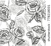 floral vector hand pattern... | Shutterstock .eps vector #778218031