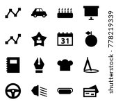 origami style icon set   graph... | Shutterstock .eps vector #778219339
